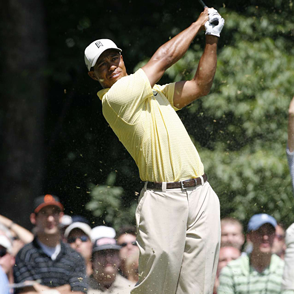 Woods made six bogeys and two birdies on the day.