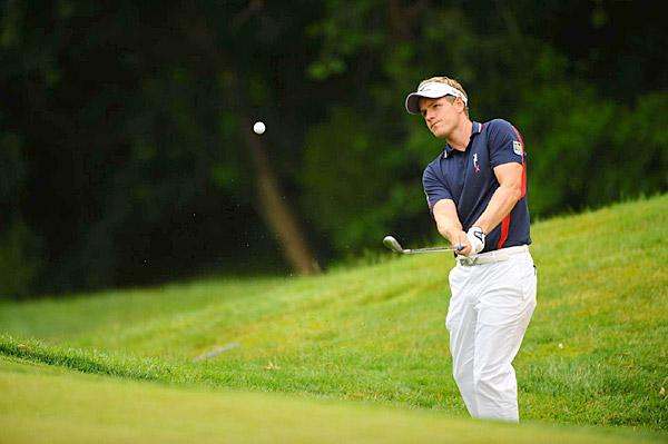started off hot with two straight birdies, but he struggled with his swing the rest of the day and finished with a 74.