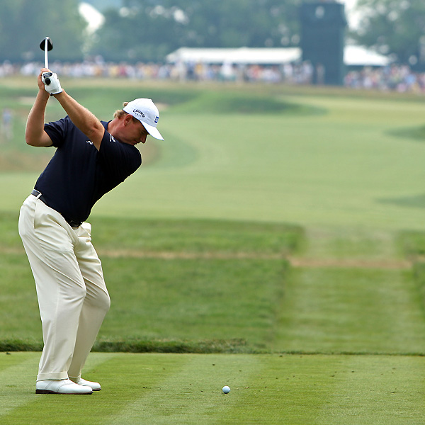 Ernie Els, who won the 1994 U.S. Open at Oakmont, shot 74 and fell to 13 over for the tournament.
