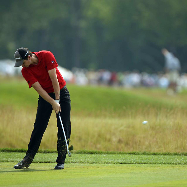 Justin Rose shot 73. At five over, he is still in the hunt for his first major championship.