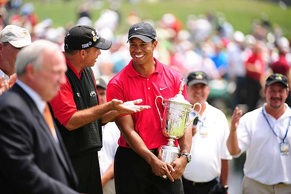 Days after winning the U.S. Open, Woods announced he would have reconstructive surgery on his injured left knee and miss the remainder of the season. Woods also revealed he needed time to heal a double stress fracture of his left tibia that was discovered prior to the U.S. Open.                                              • Return to 2008 Year-in-Review Homepage                       • Tiger Woods in the off season                       • Tiger Tracker: Everything you need to know about Tiger