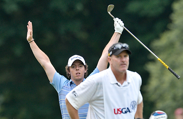 In addition to five birdies in the second round, McIlroy holed out for eagle on the short par-4 8th hole.