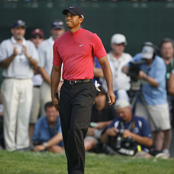 """Hit it with good speed, the hard part was judging how much it was going to kick to the right,"" said Woods of his putt on 18. ""And it took a while to start coming to the left, and by then it was past the line I needed it to be on."""