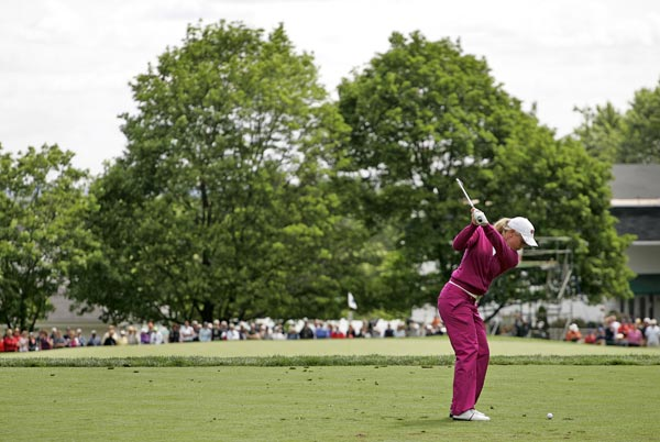 Suzann Pettersen is two strokes off the lead after an opening-round 70.