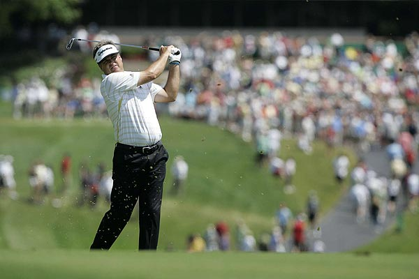 """""""When he [Azinger] said in the paper that you're probably going to have to win a tournament to get on his team, that changed my thinking,"""" Perry said about his hopes to make the Ryder Cup team."""