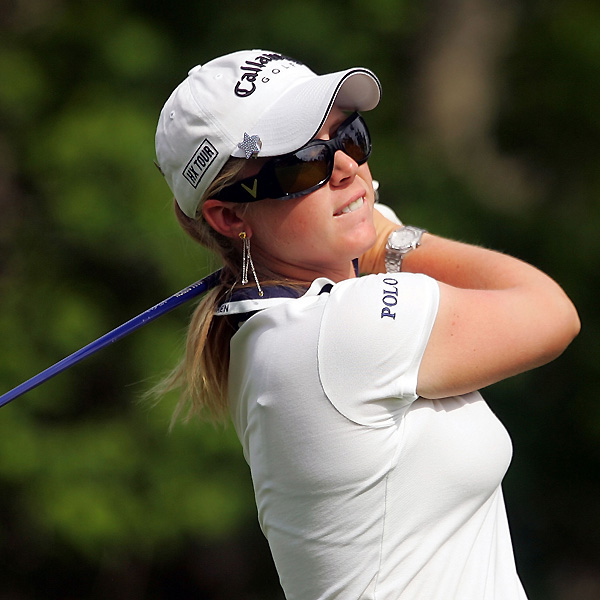 Morgan Pressel shot a one-over 73 and stands at four over.