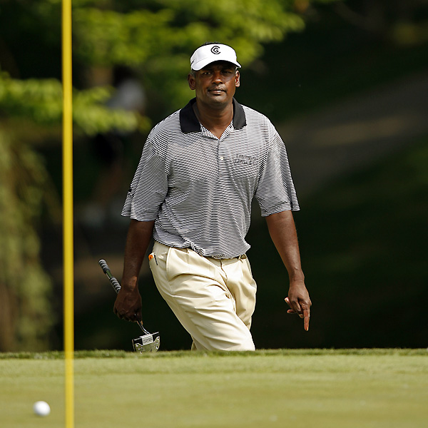 Vijay Singh, the 1997 champion, bogeyed four of his final five holes to finish at three under.                                              • Leaderboard: Friday's action at the Memorial                                              • Photos: Nicklaus through the years                                              • Photos: 10 most overrated courses in the U.S.                                              • Rumors: Did Wie's father draw a penalty?                                              • Video: Stiff wedges like Zach Johnson