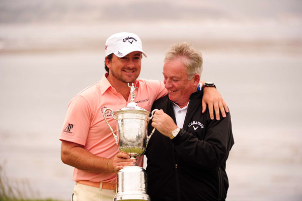 McDowell's father was there to see his son win on Father's Day.