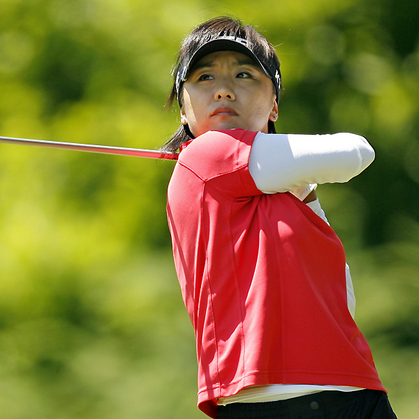 Mi Hyun Kim is tied for the lead at seven under with In-Kyung Kim.