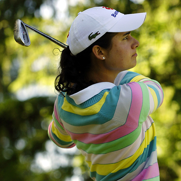 World No. 1 Lorena Ochoa moved into the lead with a five-under 67.