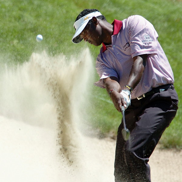 Vijay Singh shot a 66 to move to five under.