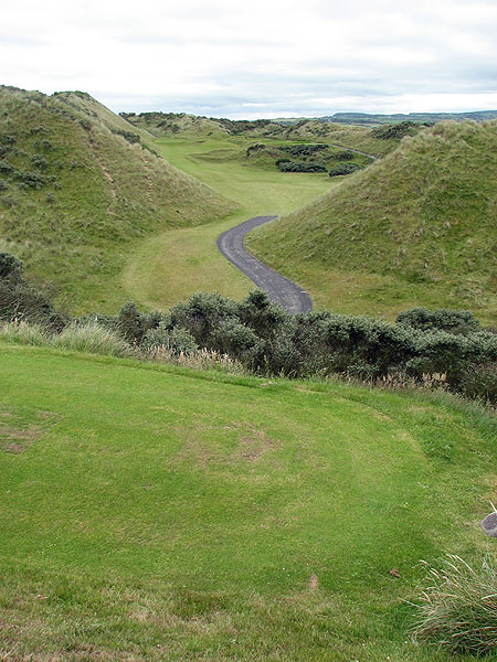 "The second hole at Portstewart. ""These links courses usually need to warm up, work their way out toward the ocean and the dunes, but Portstewart starts with a WOW,"" Coyne said.                                                       Course Called Ireland: Northern Exposure                                                      • Read Tom Coyne's entire travel journal"