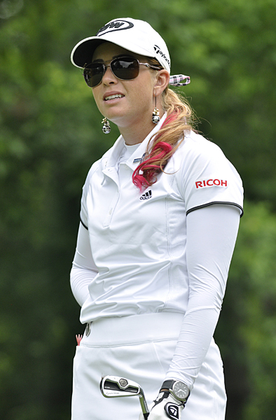 Paula Creamer made 18 pars on Saturday to fall eight shots behind Tseng.