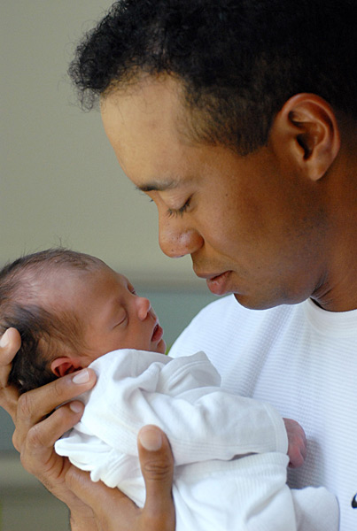 Tiger and his daughter, Sam Alexis Woods.