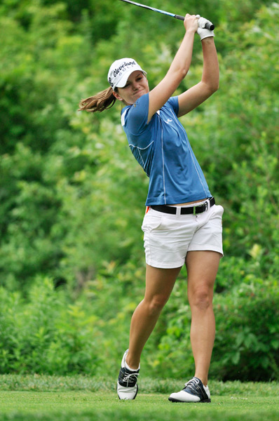 Cindy LaCrosse began the day tied for second but shot a five-over 77 to fall out of contention.