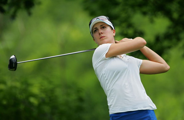 Sandra Gal, who led after the first round, shot a one-over 73.