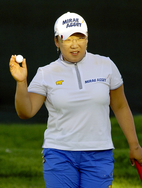 Second Round of the Wegmans LPGA                                                      Jiyai Shin holds a three-shot lead, but the second round was suspended due to darkness.