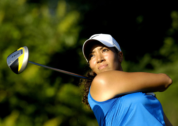 Tiger's niece Cheyenne Woods missed the cut by four shots.