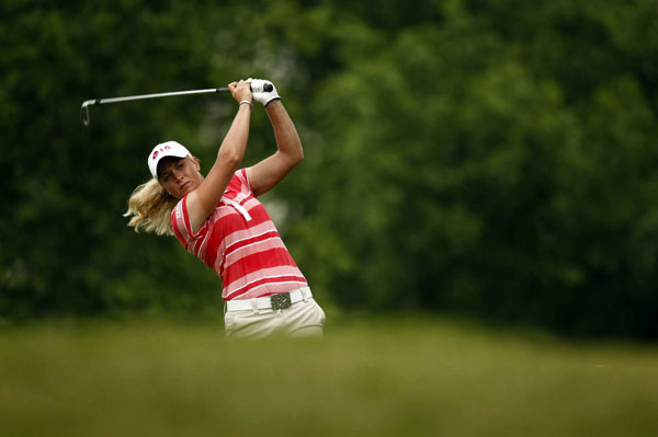 Suzann Pettersen made three birdies and a bogey for a 71.