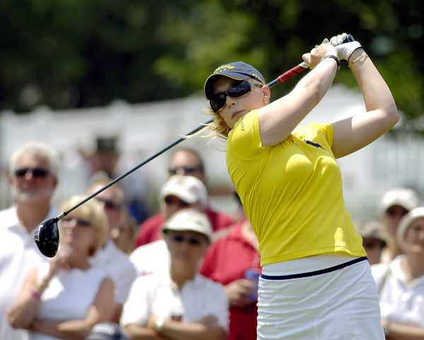 Morgan Pressel is in second place after a two-under 70.