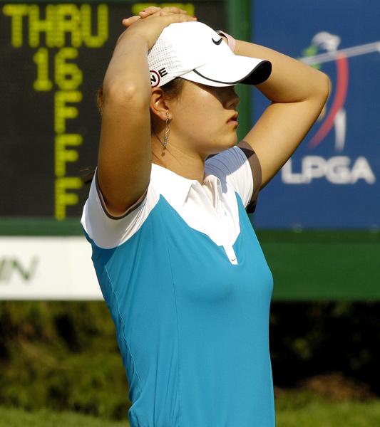 Michelle Wie fell out of contention following a 75.