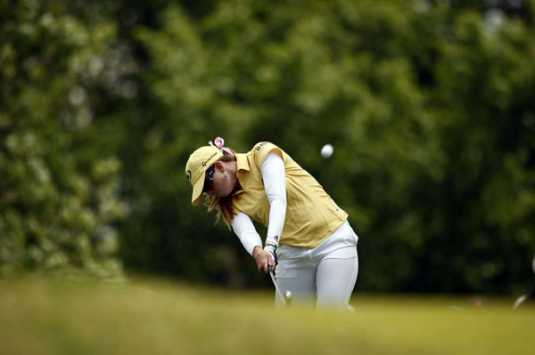 Third Round of the U.S. Women's OpenPaula Creamer missed several birdie chances on the back nine, but she will be in the final group on Sunday.