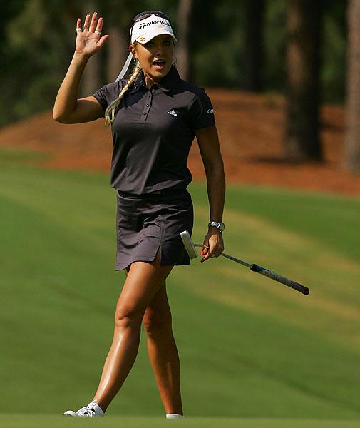 Natalie Gulbis shot an opening-round 74.