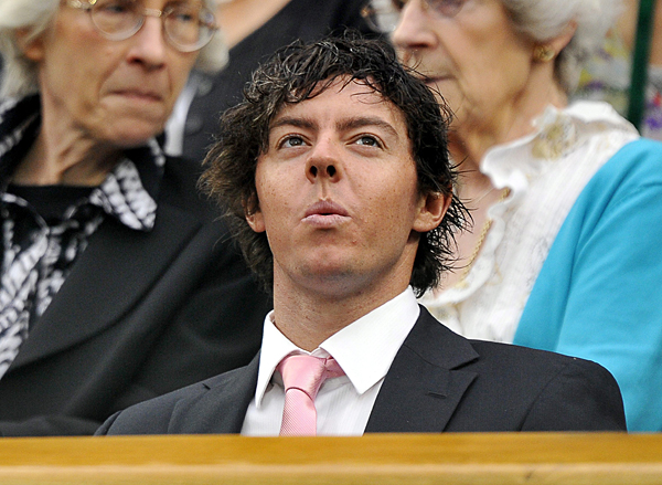 McIlroy sat in the Royal Box to watch the women's quarterfinal matches.