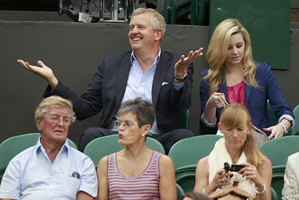 was also at Wimbledon on Tuesday, but he wasn't in the Royal Box.Colin Montgomerie attended Wimbledon in 2011, but he wasn't in the Royal Box.