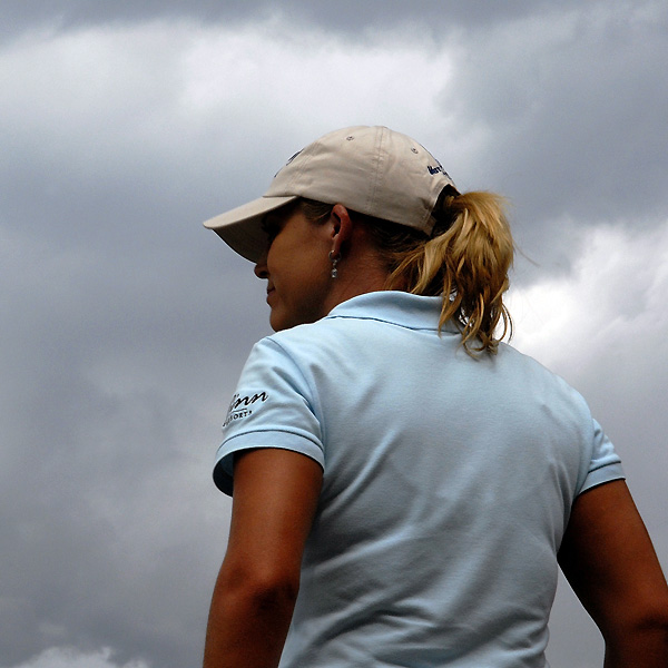 Cristie Kerr remained at even par for the tournament after severe weather prevented her from teeing off.