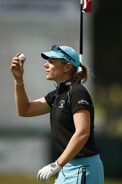 Annika Sorenstam finished 12 strokes off the lead in her final U.S. Open appearance.