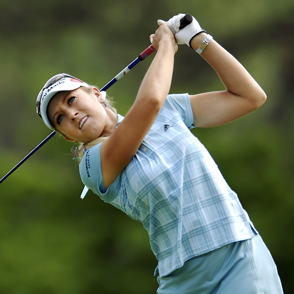 Natalie Gulbis finished at four over after a 72.