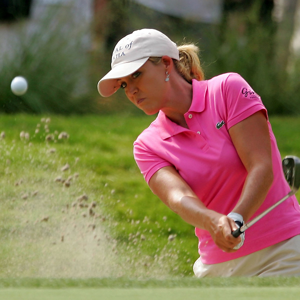 Cristie Kerr closed with three birdies and three bogeys to finish at one over.