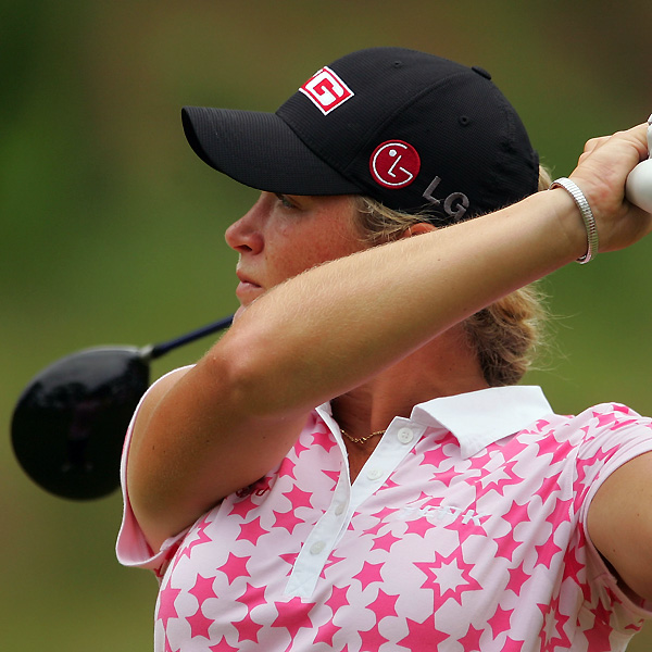 Suzann Pettersen fired a two-over 73.