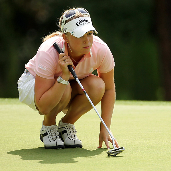 Morgan Pressel, already a major winner this year, remained close to the lead after a one-under 70.
