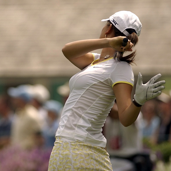 Michelle Wie withdrew from the U.S. Women's Open halfway through her second round due to an injured wrist. Wie shot 82 in the first round, and was six over par through nine holes Saturday.