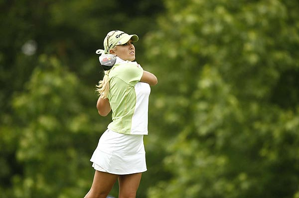 Natalie Gulbis double bogeyed the par-4 sixth hole. She is at one over par.