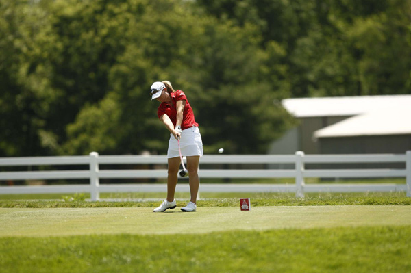 Kristy McPherson finished at 9-under par after a bogey-free 66.