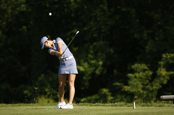 Second Round of the State Farm Classic                       Michelle Wie shot a 4-under 32 on the back nine to finish at 6 under.
