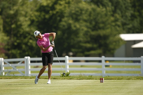 Helen Alfredsson made two birdies and a bogey for a 71.