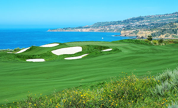 Trump National Golf Club, Los Angeles                       Rancho Palos Verdes, Calif.                                              OPENED 2006                       ARCHITECT Donald Trump                       PAR 72 (7,311 yards)                       GREENS FEE $250-$375                       RANKING Golf Magazine Top 100 Courses You Can Play (38th)                                              Only a half hour from downtown L.A., it's the only truly public course owned by Trump. The greens fee-thought to be the highest in greater Los Angeles-is on par with Pebble Beach's, and the course is almost as busy (about 55,000 rounds a year). Range balls are free, and athletes and entertainers are regulars.