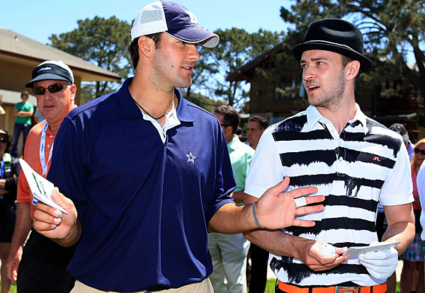 "Dallas Cowboys quarterback Tony Romo and singer Justin Timberlake joined ""Today"" host Matt Lauer and a regular guy from Omaha, Neb., in an attempt to break 100 on Friday on Torrey Pines' South Course."