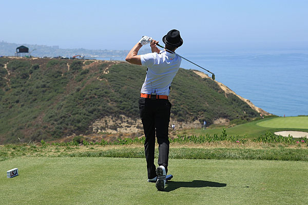 """""""It's just inhuman, how well they strike it,"""" Timberlake said, referring to Tiger Woods and his ilk."""