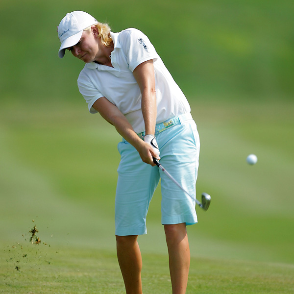 Mhairi McKay moved into contention with a three-under 69.