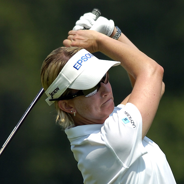 Karrie Webb only made one bogey Friday and will be in the final group on Saturday.