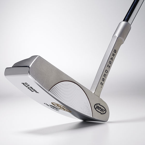 Yes! Golf Abbie                                              C-Groove putters are gaining momentum in the market due to their distinct look and feel. The Abbie, milled from forged carbon steel, features the firm's concentric groove pattern across the face. Company officials claim the edges of the grooves limit skid, so the ball begins rolling sooner. Abbie comes in upright and flat lies, too.                                              $300; yesgolf.com                       Video: Green Reading Basics