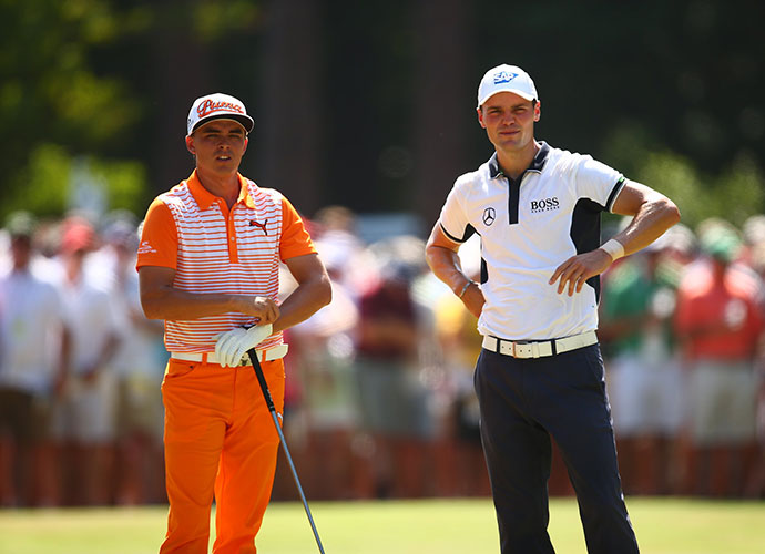 Rickie Fowler -- five strokes back through 54 holes -- seemed the most likely candidate to challenge Kaymer at the start of play Sunday.