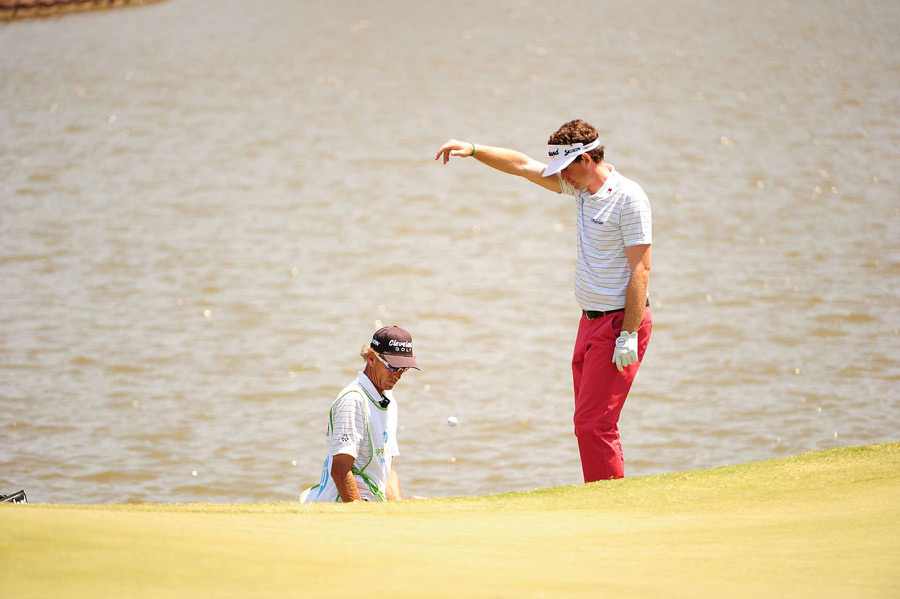 Keegan Bradley was in the hunt until a triple bogey on No. 11.