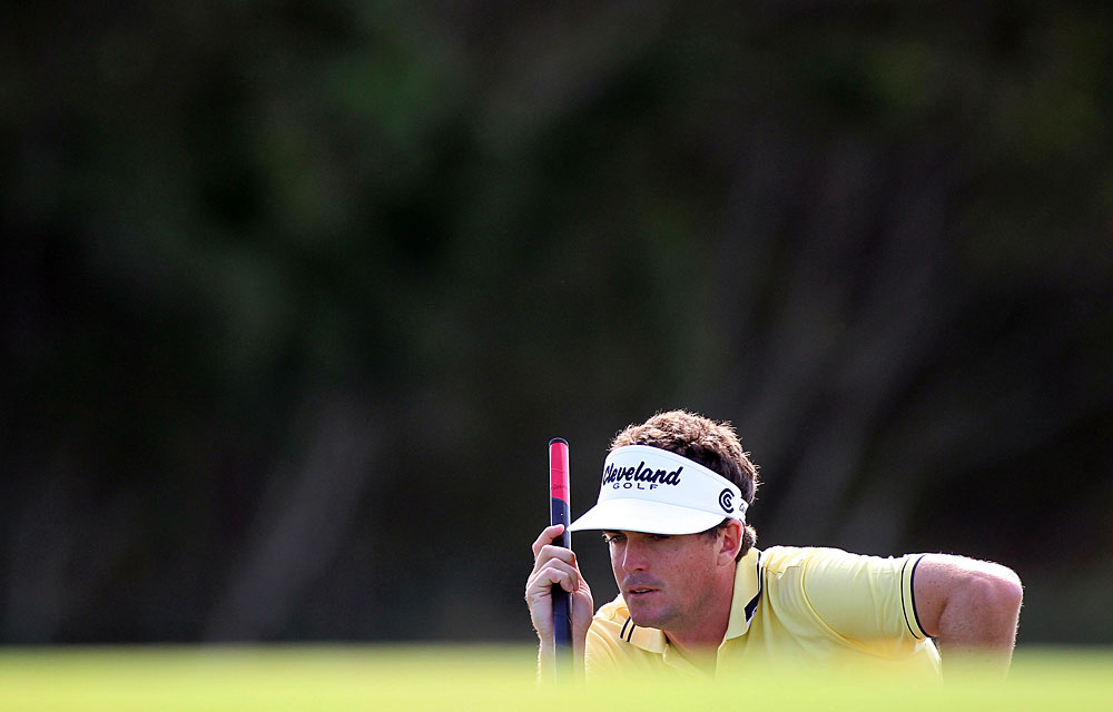 Keegan Bradley made three birdies and two bogeys for a one-under 72.