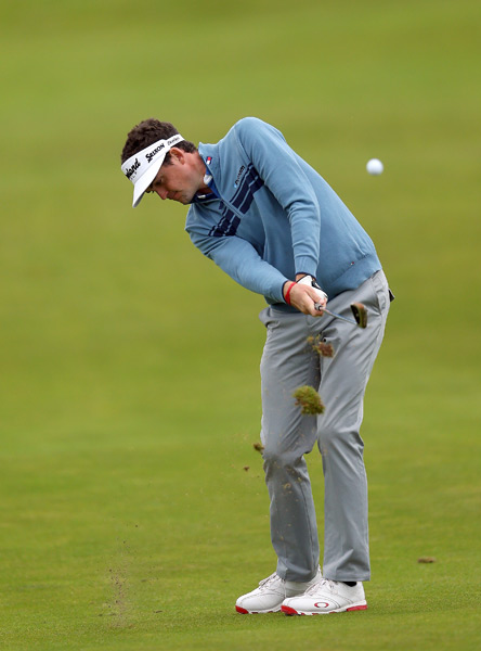 Keegan Bradley was one of the few PGA Tour players who flew across the pond for the Irish Open.